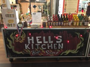 Hell's Kitchen Hot sauce stand
