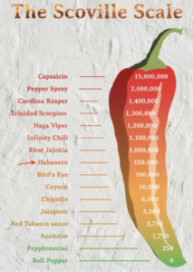 Habanero Pepper on the Scoville Chart